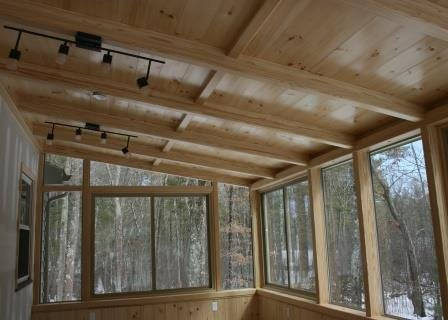Massachusetts Interior of Deck Enclosed to a Living Room Home Addition