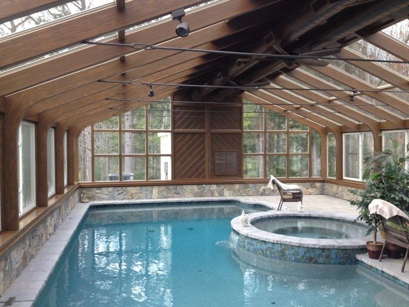 Maine Enclose a Pool and Hot Tub in a Year-Round Room Addition