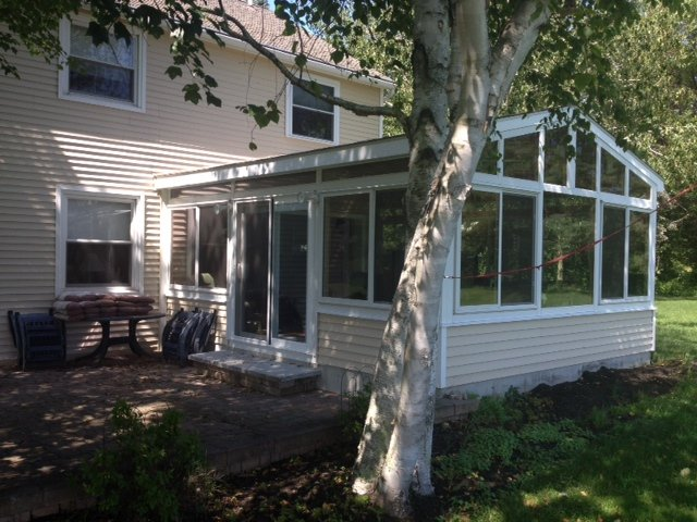 NH Four Season Gable Sunroom with Solid Wood Ceiling