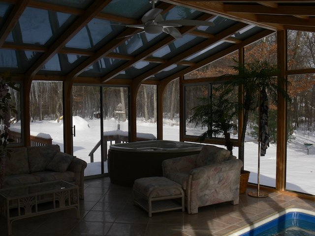 RI Add a Room to Enclose an Endless Swim-in-Place Pool and Hot Tub / Spa
